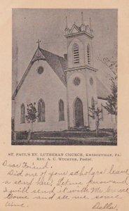 KRESGEVILLE, Pennsylvania, PU-1907 ; St. Paul's Ev. Lutheran Church