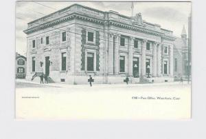 ANTIQUE POSTCARD CONNECTICUT WATERBURY POST OFFICE UNDIVIDED BACK