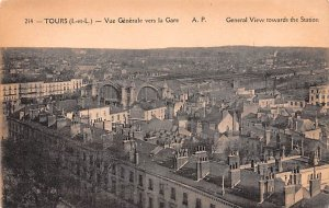 General View towards the Station Tours France Unused
