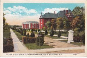 GREENSBORO , North Carolina, 1910s ; College Avenue