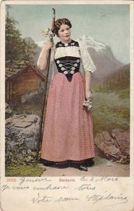 Switzerland Bernerin Woman Traditional Costume 1907