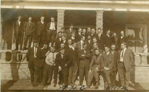 ASO's Mens Graduating Class RPPC Photo Postcard 6527