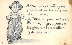 Money Related Eagles on Ten Dollar Gold Pieces Unused