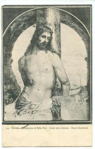Siena, Accademia di Belle Arti, Cristo Alla Colonna, Bazzi, 1918 used Postcard