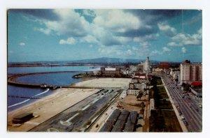 Postcard Long Beach California Ocean Blvd. Union Oil Company Standard View Card
