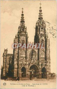 Old Postcard Chalons sur Marne Surroundings of Our Lady of the Thorn