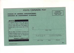 Canada Post, Change of Address Announcement 1966