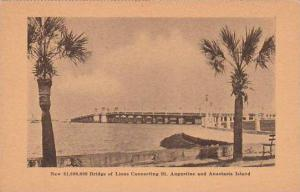 Florida Saint Augustine New 1000000 Bridge Of Lions Connecting Saint Augustin...
