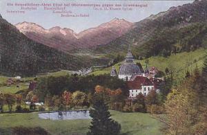 Die Benediktiner-Abtel Ettal Bei Oberammergau Gegen Das Graswangtal, Oberamme...