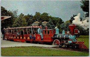 Lincoln, Nebraska Postcard THE IRON HORSE RAILROAD Children's Zoo Train c1960s