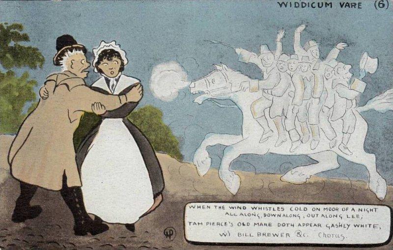 DEVON , Engalnd , Comic postcard set , WIDDICUM VARE, 00-10s
