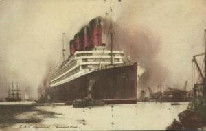 Cunard Line Steamer R.M.S. Royal Mail Steamer Aquitania (1930s)