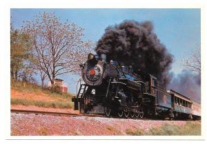 Strasburg Railroad PA Steam Locomotive No 90 Train Postcard