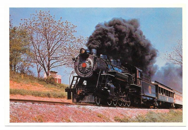 Strasburg Railroad PA Steam Locomotive No 90 Train Postcard