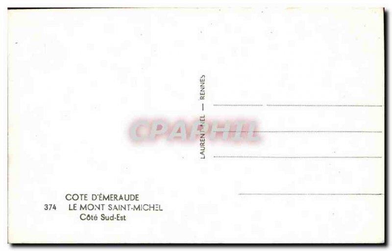 Old Postcard The Mont Saint Michel is South coast