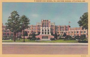 Arkansas Little Rock Senior High School 14th and Park Avenue Curteich