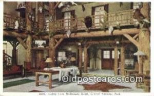 McDonald Hotel, Glacier National Park, USA Motel Hotel Postcard Post Card Old...