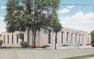JANESVILLE, Wisconsin, 1930-1940's; Post Office