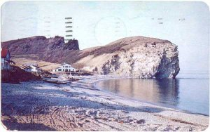 Three Sisters Cliffs in Vicinity of Perce, Quebec, PC, 1959 Chrome