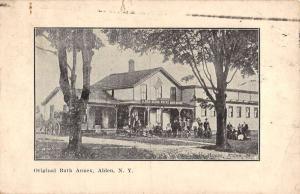 Alden New York Original Bath Annex Street View Antique Postcard K59945