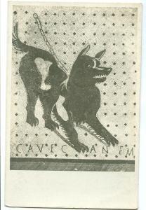 Napoli, R. Museo Nazionale, Cane a catena col motto, Cave Canem