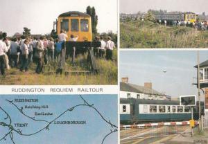 Ruddington Railway Railtour Map 1984 Rail Closure Train Nottingham Postcard