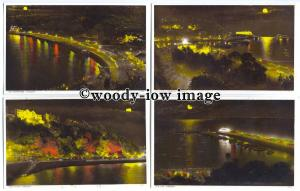 tb0202 - Devon - Illuminated Night Life Views around Torquay - 5 postcards