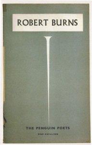 Robert Burns The Penguin Poets 1946 Book Postcard