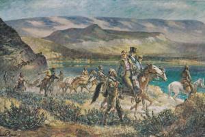 Horseback, HBC Fur Brigade, From Fort George Down the Fraser River, Fort Kaml...