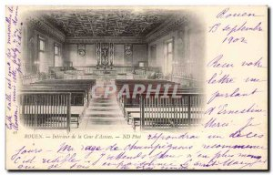 Old Postcard Rouen Interior of the Court & # 39Assises