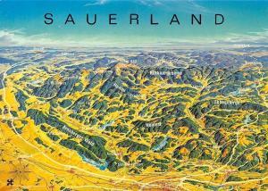 Sauerland Stadtplan Map Arnsberger Wald, Hunau, Homert, Rothaargebirge