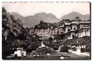 Old Postcard The French Riviera Menton Garden