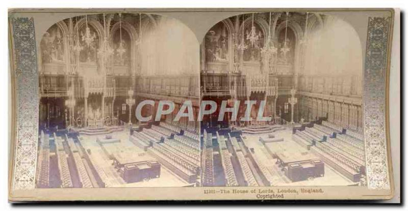 Stereoscopic photograph The House off Commons London England