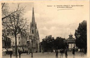 CPA VIENNE - CHATELLERAULT - Église St-JEAN et Kiosque a Musique (255737)