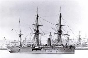 Vintage Reproduction Postcard c1871-78 Royal Navy HMS Iron Duke, Battleship #310