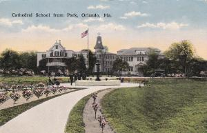 Cathedral School from park , ORLANDO , Florida , PU-1915