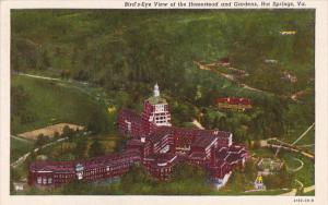 Virginia Hot Springs Birds Eye View Of The Homestead And Gardens