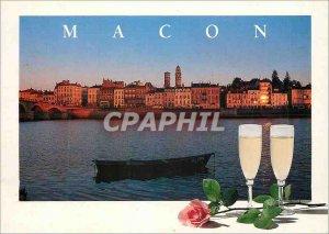 Modern Postcard Macon (Saone et Loire) Quays