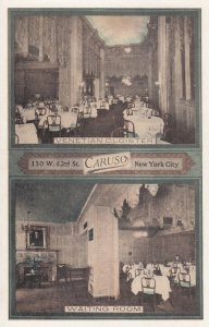 NEW YORK CITY, 1930s ; CARUSO Restaurant