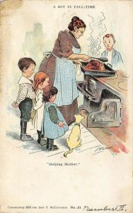 John T McCutcheon~A Boy in Fall-Time~Helping Mother~Kids Watch Turkey Basting~21