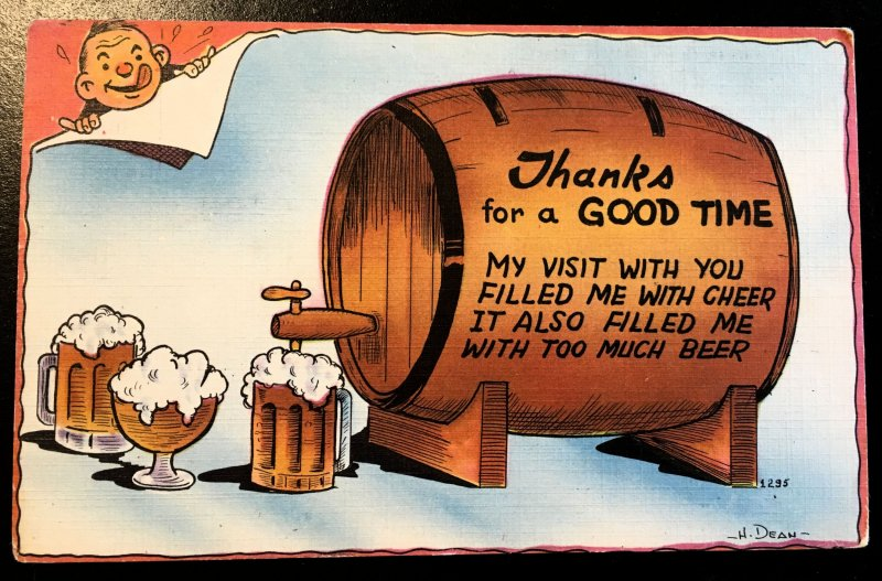 Colourpicture - Thank-you Beer Keg, Vic's Stamp Stash
