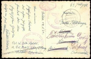 3rd Reich Waffen SS Police Battalion 181 Feldpost Cover 70265