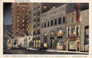 Washington DC~Harvey's Famous Restaurant @ Night~Connecticut Avenue~1943 Pc