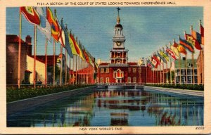 New York World's Fair 1939 Section Of The Court Of States Looking Toward...