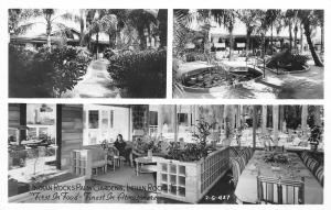 Indian Rocks Florida~Palm Gardens Restaurant~Dining Room~Inside Out~1950s RPPC