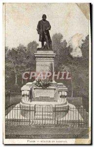 Old Postcard Paris Statue of Raspail