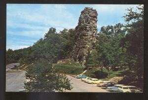 BLUEFIELD WEST VIRGINIA 1950's CARS PINNACLE ROCK STATE PARK VINTAGE POSTCARD
