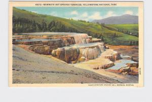 VINTAGE POSTCARD NATIONAL STATE PARK YELLOWSTONE MAMMOTH HOT SPRINGS TERRACES #4