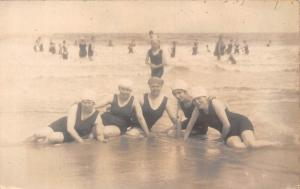 Vintage Group Photo at beach, plage, strand