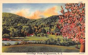 Greetings from Margaretville, New York Postcard